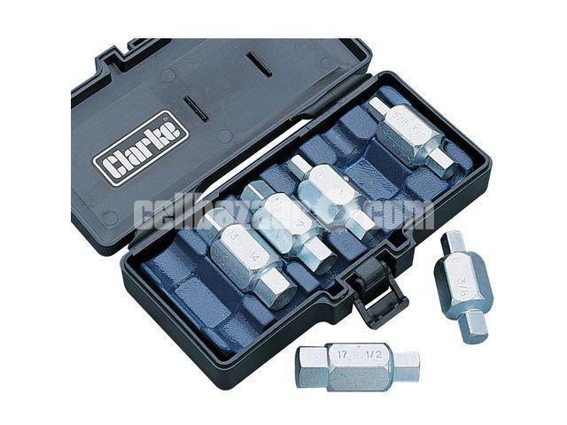 Clarke CHT220 Oil Drain Plug Key Set - 1/1