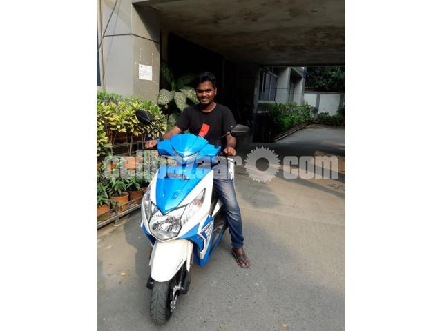 Honda Dio Scooter -Blue Color, 110cc, Only 1200 KM Run - 1/5