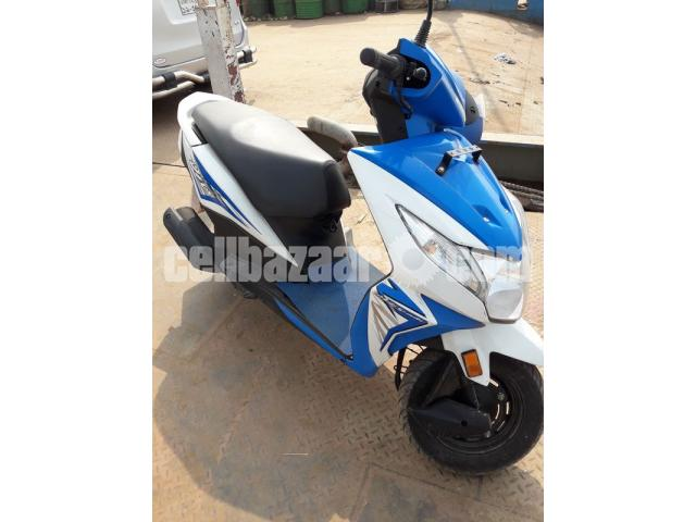 Honda Dio Scooter -Blue Color, 110cc, Only 1200 KM Run - 2/5