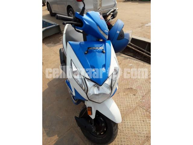 Honda Dio Scooter -Blue Color, 110cc, Only 1200 KM Run - 4/5