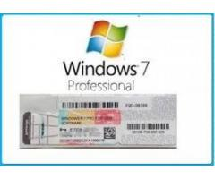 Windows 7 Pro OEM LIcence key for lifetime active. 100% Genuine.