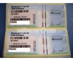 Windows 7 Ultimate Retail Licence Key for lifetime active