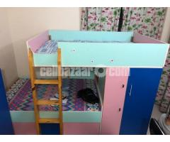 Bunk bed for kids - with mattress 4'-6'