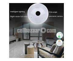 Spy Camera LED Light Bulb Night Vision Wifi IP Cam 360° Pano