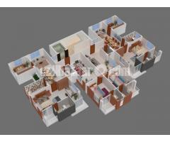 1665 sft ongoing flat Bashundhara E block
