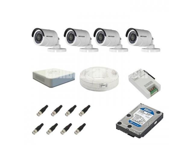 1e0ea9d7d0d Hikvision 4 CCTV Cameras Night Vision   Channel DVR Standalone-Kit - 1 1