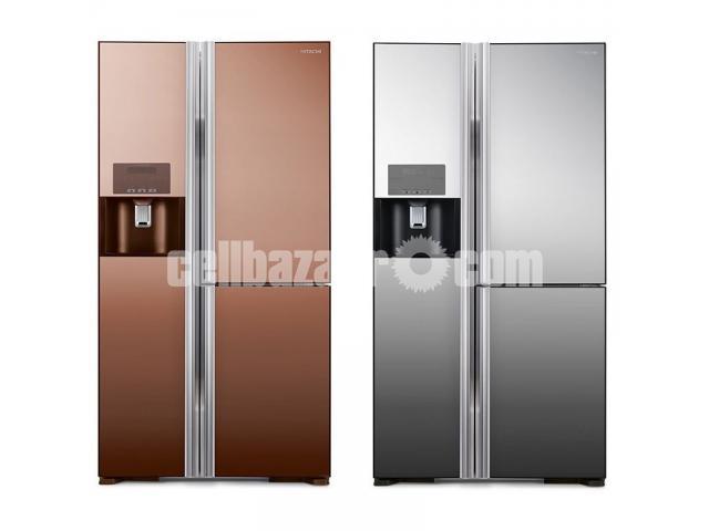 Hitachi Side by Side Refrigerators R-M700GPG2X 584Litres - 1/3