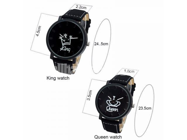 King & Queen Couple Watch for Gift! - 3/5
