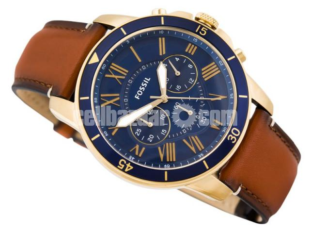 WW0185 Original Fossil Grant Chronograph Luggage Leather Belt Watch FS5268 - 2/5