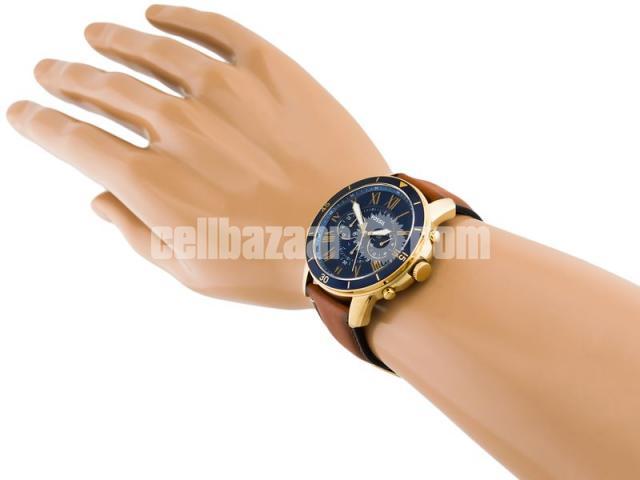 WW0185 Original Fossil Grant Chronograph Luggage Leather Belt Watch FS5268 - 3/5