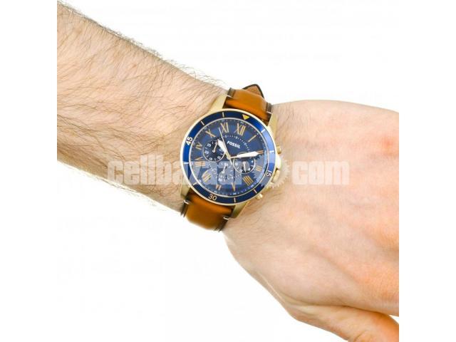 WW0185 Original Fossil Grant Chronograph Luggage Leather Belt Watch FS5268 - 5/5