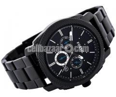 WW0186 Original Fossil Machine Chronograph Black Stainless Steel Chain Watch FS4552 - Image 3/5