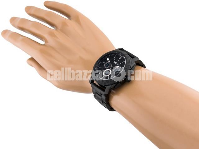 WW0186 Original Fossil Machine Chronograph Black Stainless Steel Chain Watch FS4552 - 4/5