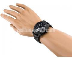 WW0186 Original Fossil Machine Chronograph Black Stainless Steel Chain Watch FS4552 - Image 4/5