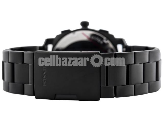 WW0186 Original Fossil Machine Chronograph Black Stainless Steel Chain Watch FS4552 - 5/5