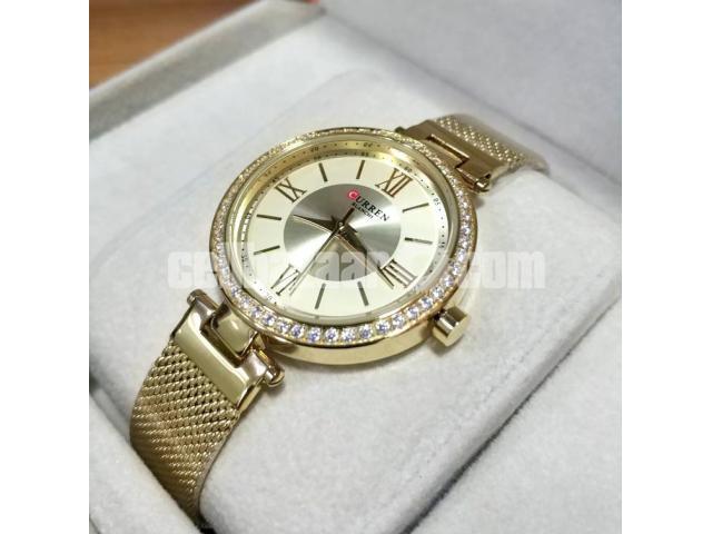 WW0189 Original Curren Ladies Mesh Chain Watch - 4/5