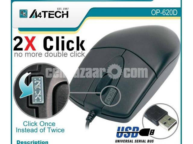 A4 Tech OP-620D USB Optical Mouse - 1/2
