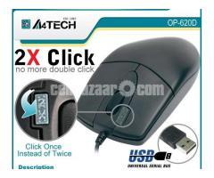 A4 Tech OP-620D USB Optical Mouse - Image 1/2