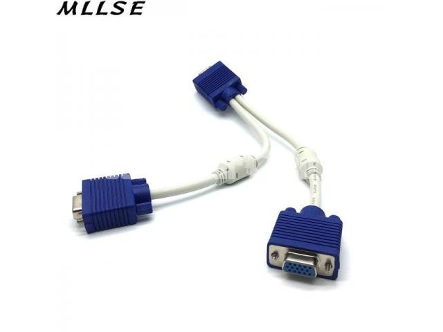 VGA Y Monitor Splitter Cable - White and Blue - 2/2