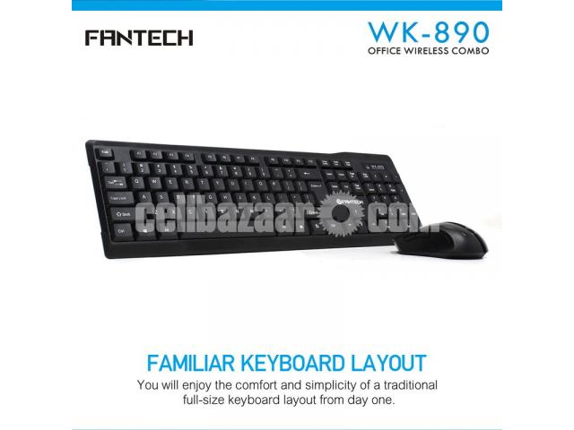 Fantech WK-890 Office Wireless Keyboard Mouse Combo - 2/2