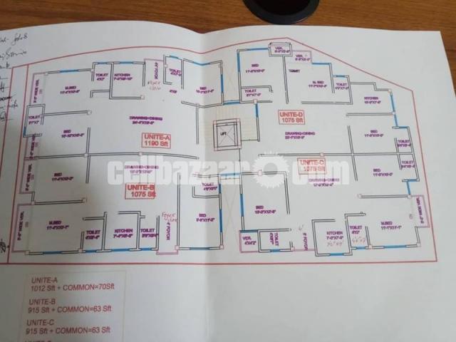 1250 SFT flats Land share sale - 1/5