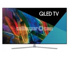 "75"" samsung Q7F QLED 4K TV premium pic Quality"