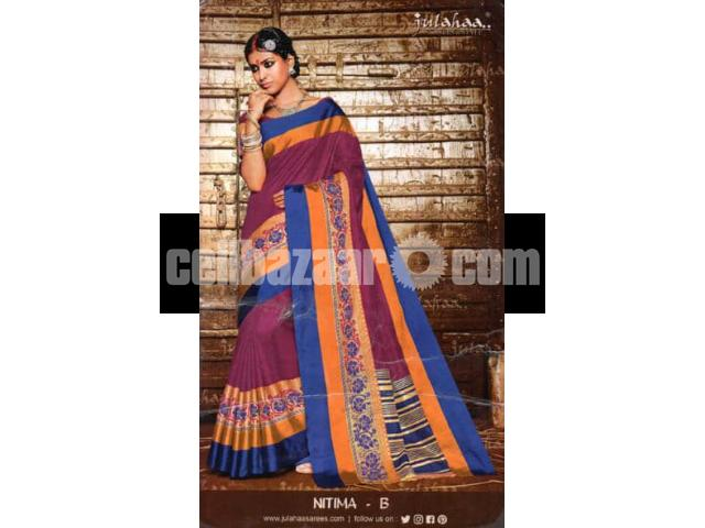 Toshor silk saree - 1/4