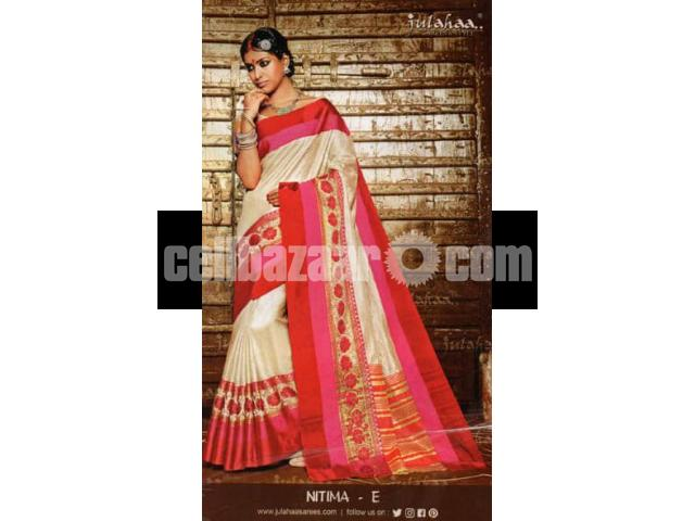 Toshor silk saree - 3/4