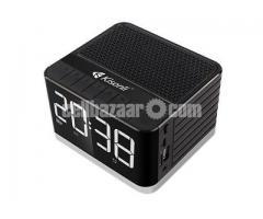 Kisonli G8 Portable Alarm Clock Bluetooth Wireless Speaker with Big LCD screen