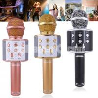 Wster WS-858 Portable Bluetooth Speaker Karaoke Microphone