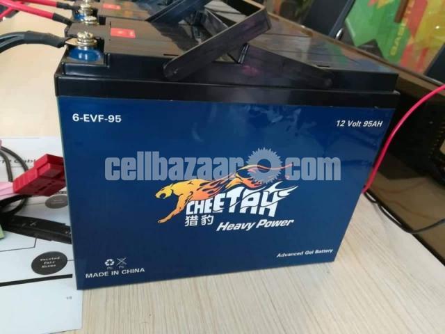 Cheetah Rickshaw Battery-Mainternance Free (48V 95Ah) - 3/4