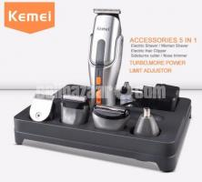 Kemei KM-680A Multifunction Rechargeable Electric Trimmer Shaver