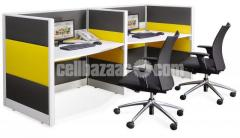 Office Work Station (Fabric Partition)