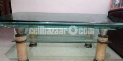 Used Center Table of high tempered glass