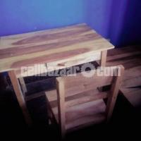 Bed, Table and Chair