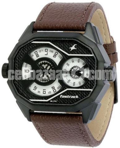 WW0220 Original Fastrack Dual Dial Leather Belt Watch 3094NL01 - 1/5