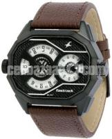 WW0220 Original Fastrack Dual Dial Leather Belt Watch 3094NL01 - Image 1/5