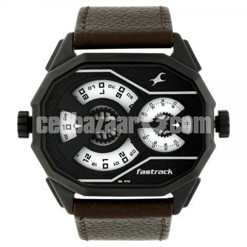 WW0220 Original Fastrack Dual Dial Leather Belt Watch 3094NL01 - 2/5