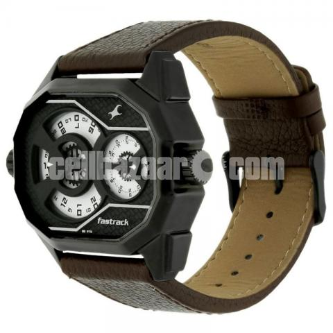 WW0220 Original Fastrack Dual Dial Leather Belt Watch 3094NL01 - 3/5