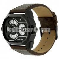 WW0220 Original Fastrack Dual Dial Leather Belt Watch 3094NL01 - Image 3/5