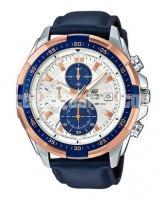 WW0221 Original Casio Edifice Chronograph Leather Belt Watch EFR-539L-7CV