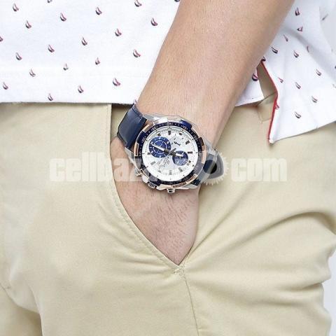 WW0221 Original Casio Edifice Chronograph Leather Belt Watch EFR-539L-7CV - 2/5