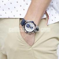 WW0221 Original Casio Edifice Chronograph Leather Belt Watch EFR-539L-7CV - Image 2/5