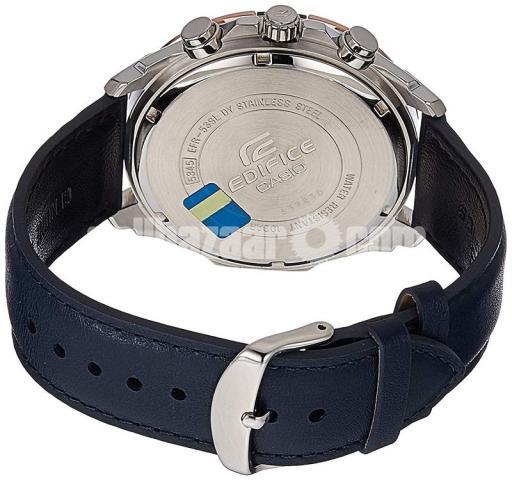 WW0221 Original Casio Edifice Chronograph Leather Belt Watch EFR-539L-7CV - 4/5
