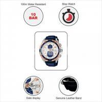 WW0221 Original Casio Edifice Chronograph Leather Belt Watch EFR-539L-7CV - Image 5/5