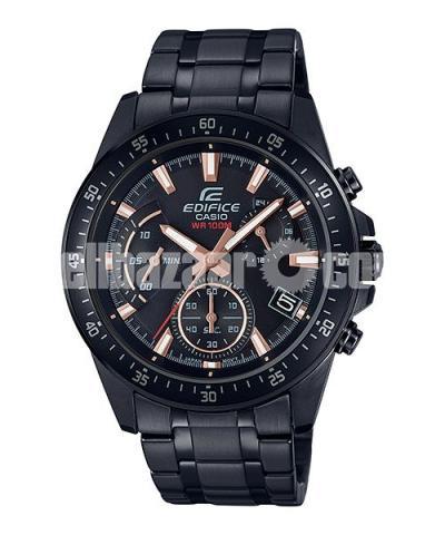 WW0226 Original Casio Edifice Chronograph Chain Watch EFV-540DC-1BV - 1/5
