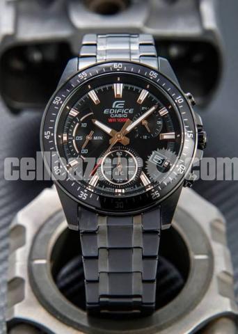 WW0226 Original Casio Edifice Chronograph Chain Watch EFV-540DC-1BV - 2/5