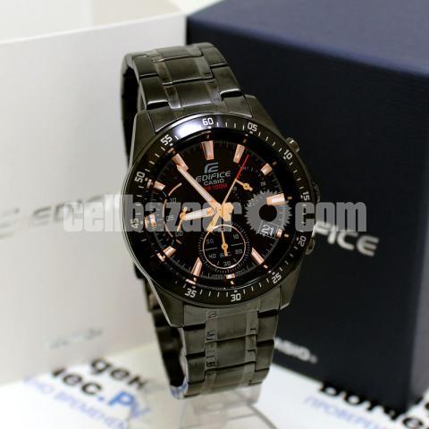 WW0226 Original Casio Edifice Chronograph Chain Watch EFV-540DC-1BV - 3/5
