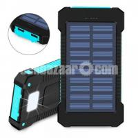 Solar Power Bank Waterproof 10000 mAh with LED Light