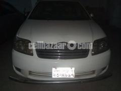 ar Name : X Corolla  Model Year : 2004  Registration Year : 2008